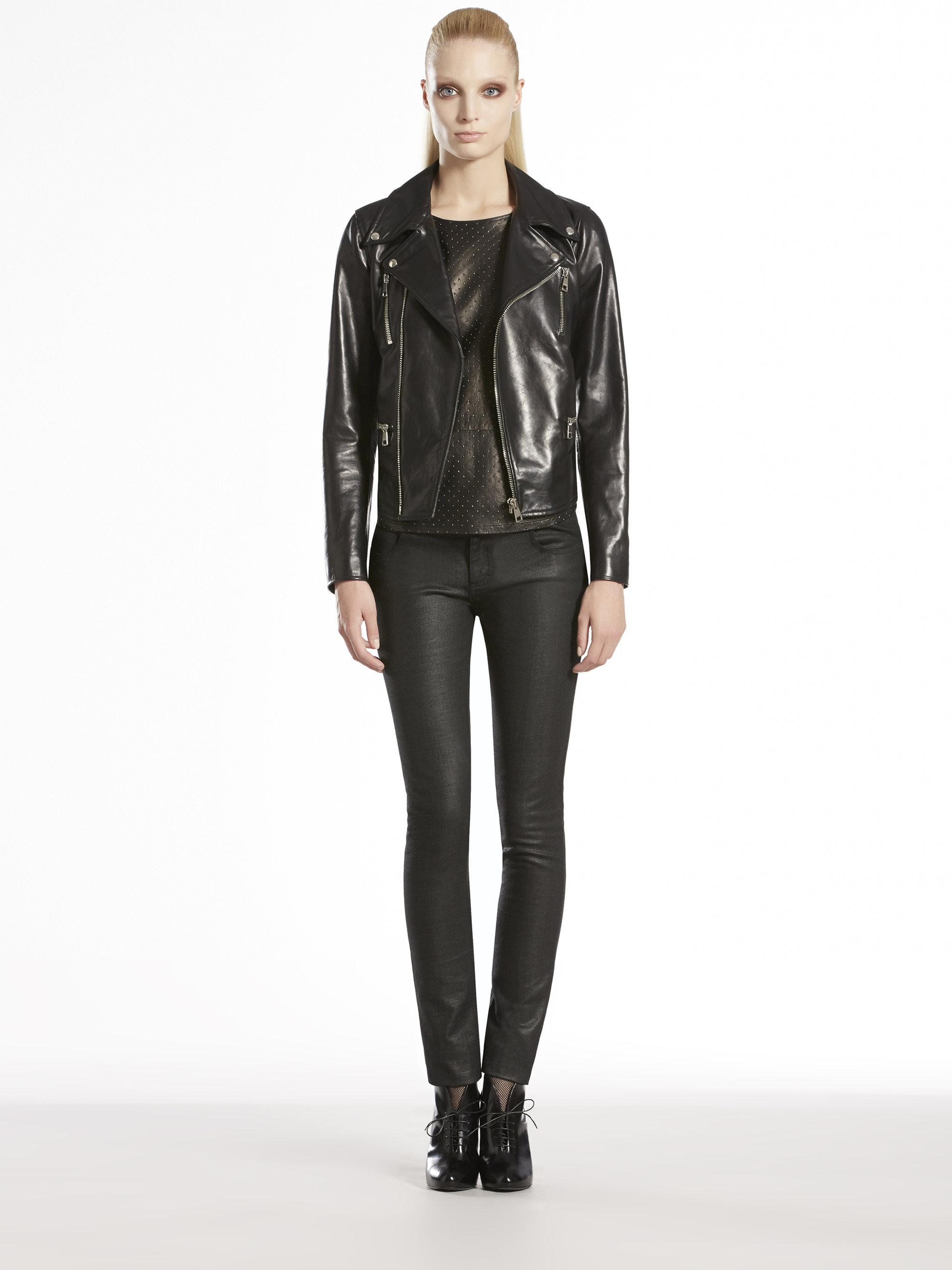 Shiny leather jackets