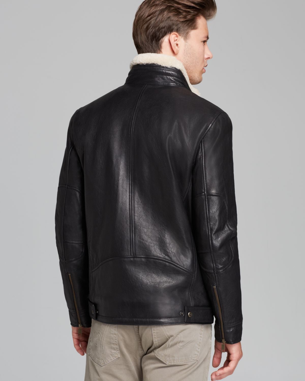Marc new york leather jacket men