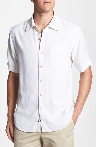 Nat Nast Silk Sport Shirt In White For Men Lyst