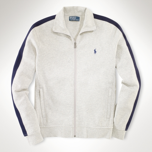 Polo Ralph Lauren Estate Fleece Track Jacket In White For