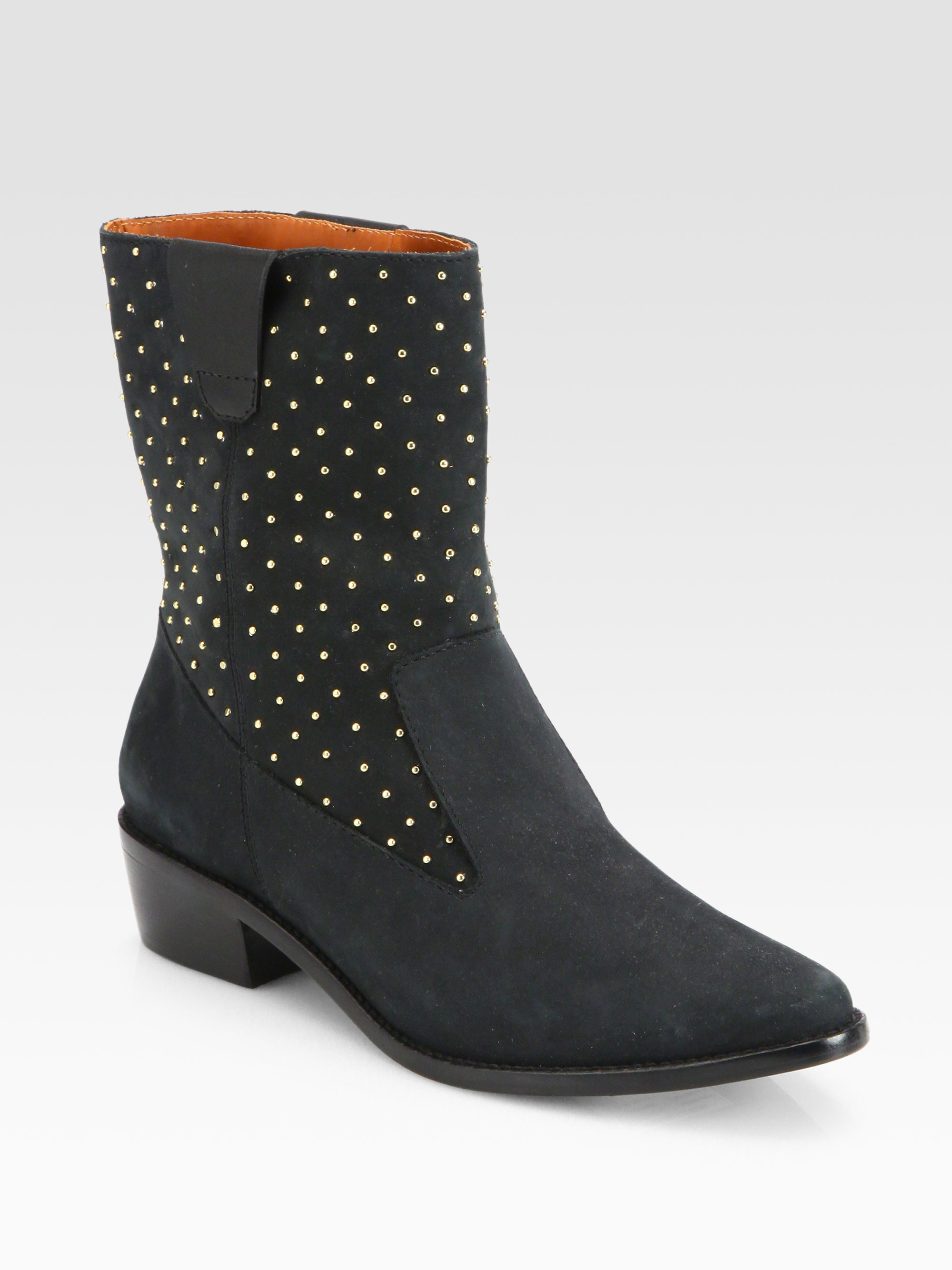 Rebecca Minkoff Sydnie Studded Suede Western Boots In