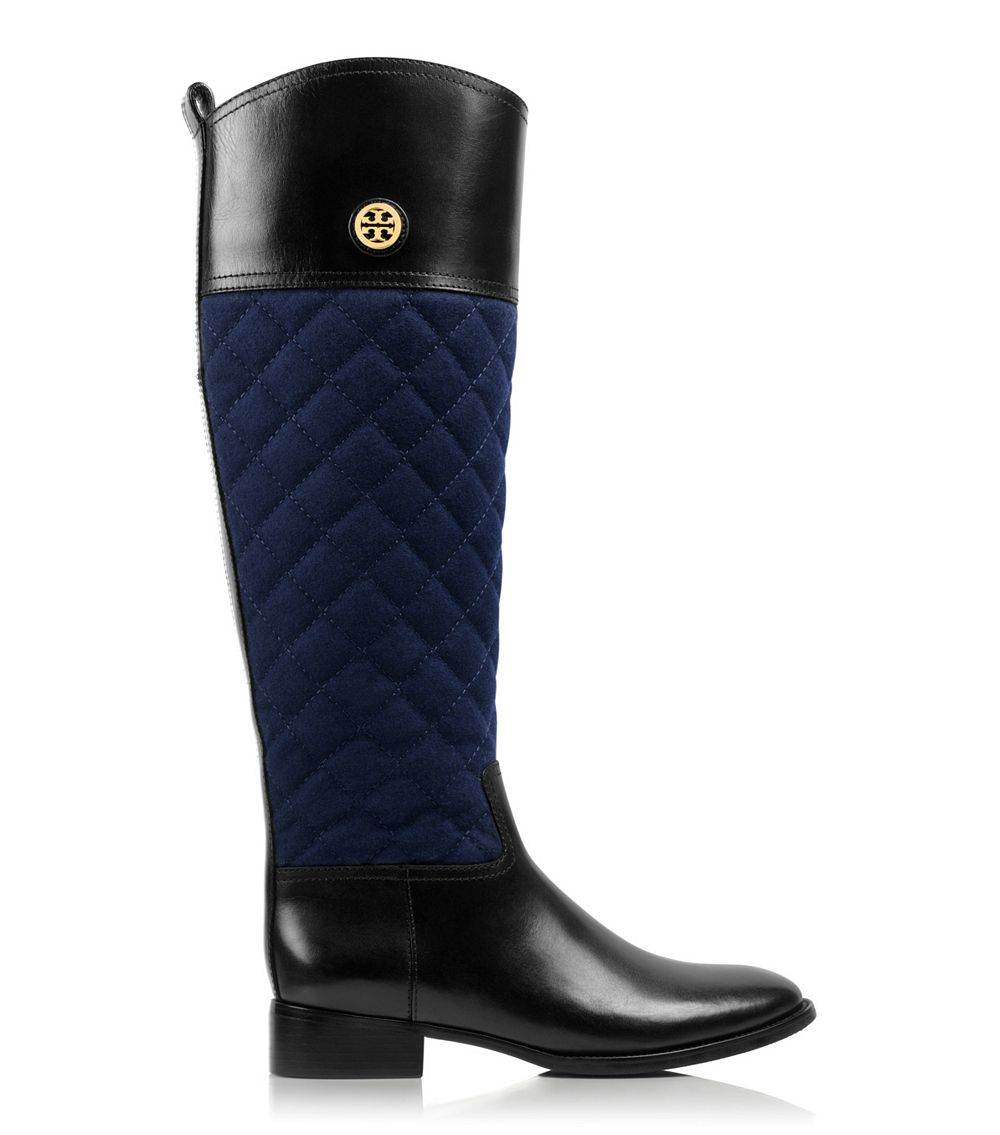 Tory burch Rosalie Riding Boot in Blue | Lyst