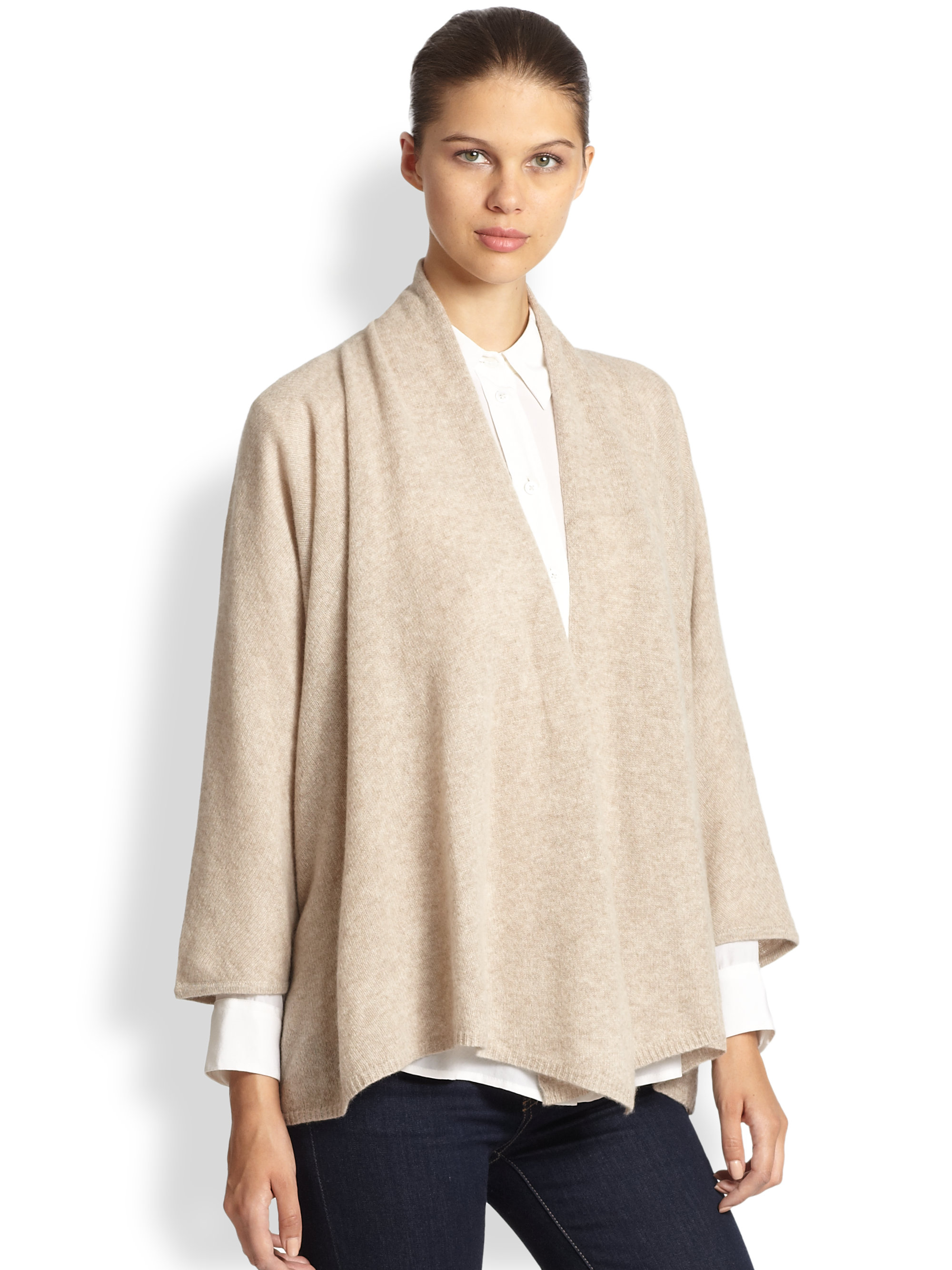 White And Warren Cashmere Poncho White Warren Cashmere Cozy