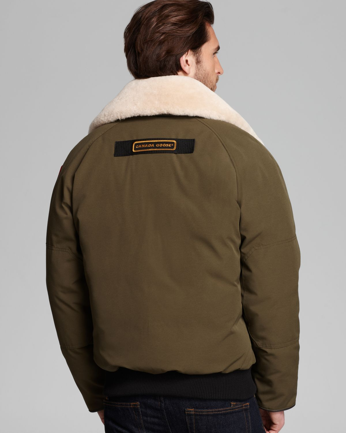Canada goose Foxe Bomber Jacket with Shearling Collar in Green for ...