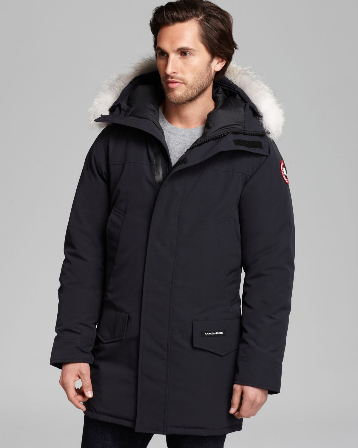 Canada Men S Sevens: Canada Goose Langford Parka With Fur Hood In Blue