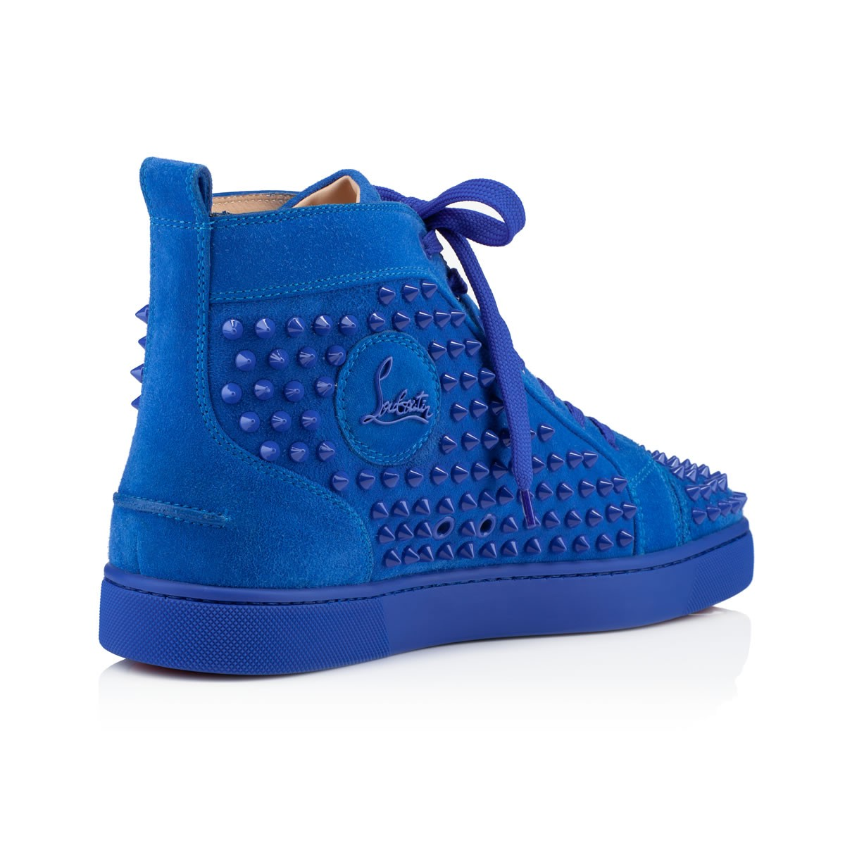 spiked loafers mens christian louboutin - Christian louboutin Men\u0026#39;s Louis Flat Sneakers in Blue for Men | Lyst
