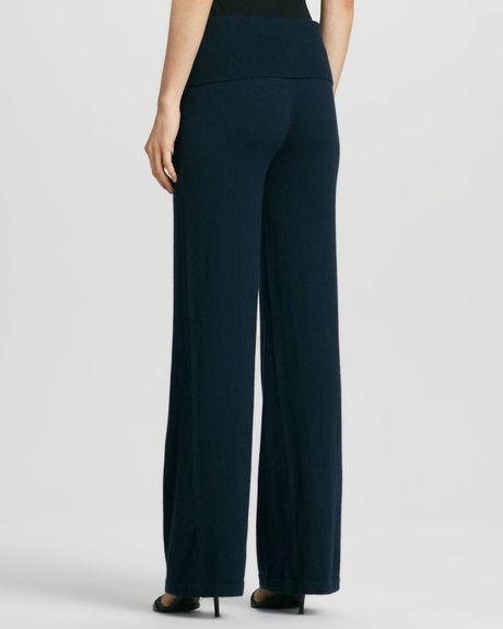 Donna Karan New York Wideleg Yoga Pants Ink In Blue (INK