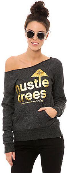 Lrg The Hustle Trees Crewneck in Gray (Black)