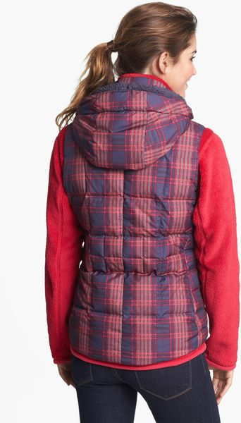 Patagonia Down With It Hooded Down Vest In Purple