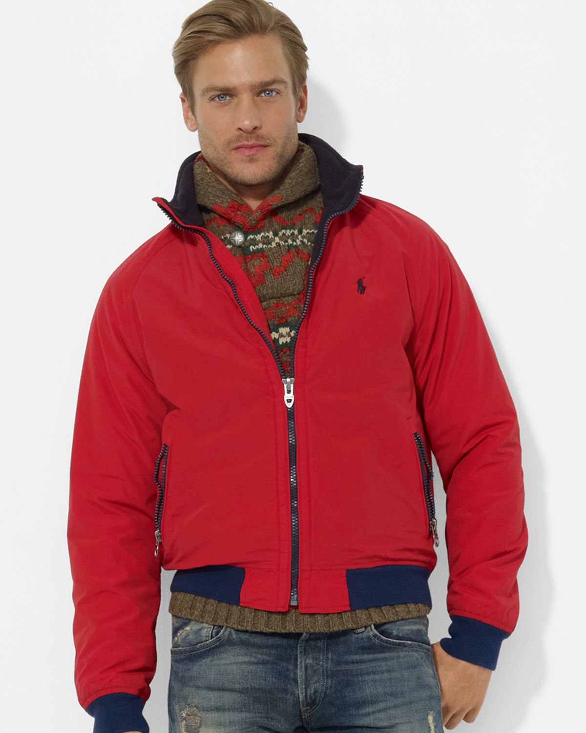 Ralph Lauren Fashion Show At New York: Ralph Lauren Polo Portage Jacket In Red For Men