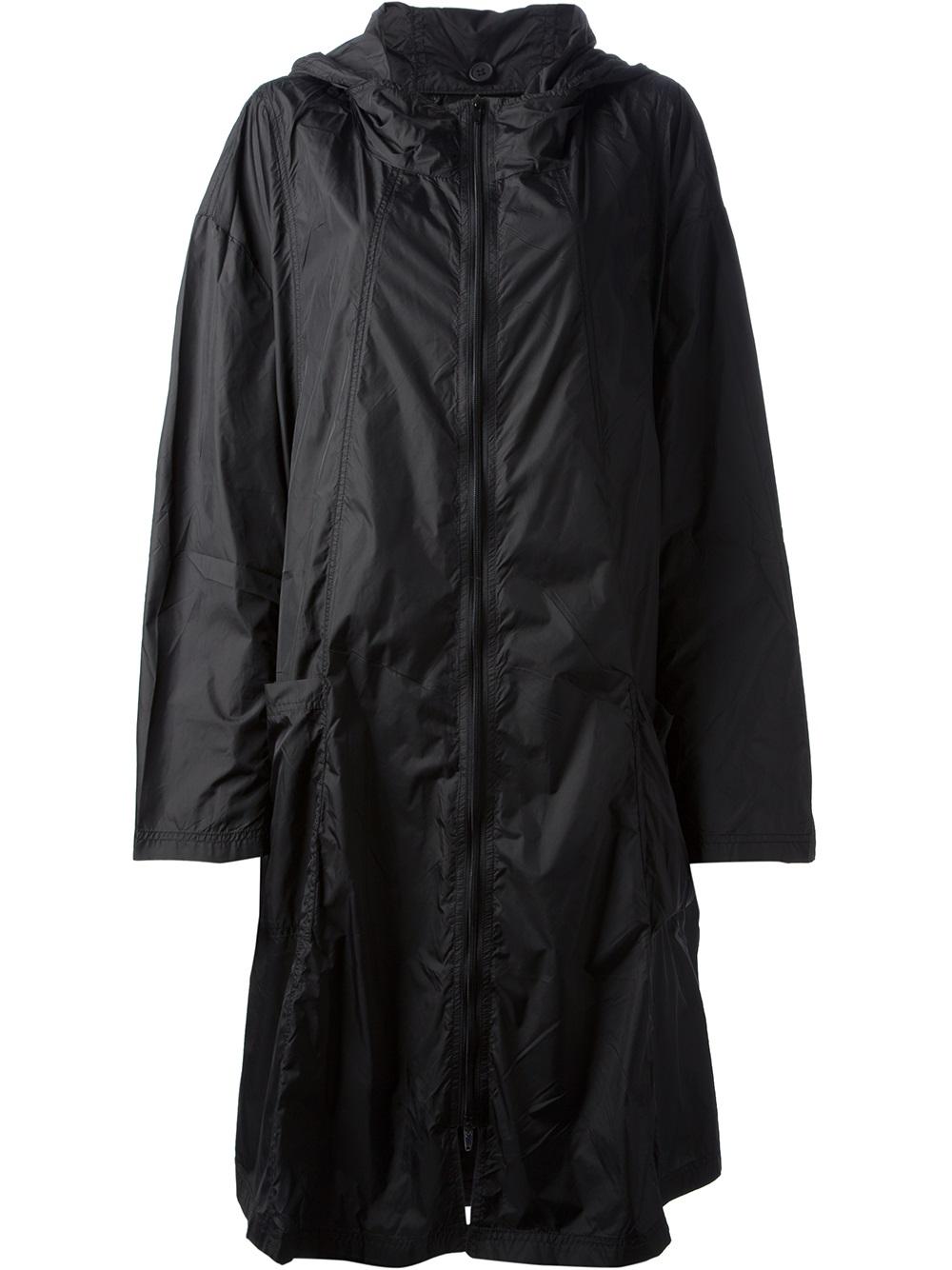 Lyst Rundholz Hooded Raincoat In Black