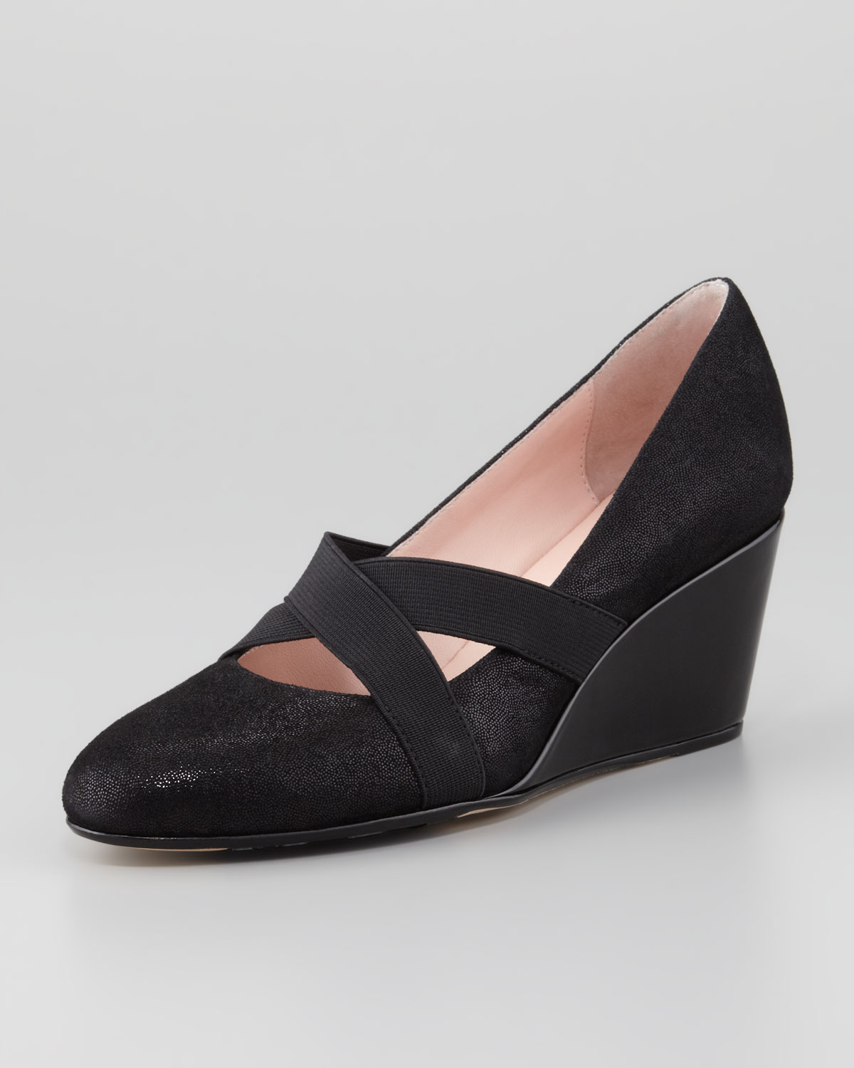 18dcf37a0c8b Lyst - Taryn Rose Kimber Wrapped Suede Wedge Black in Black
