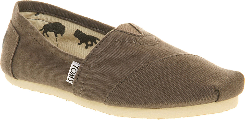 toms classic canvas espadrilles in gray lyst