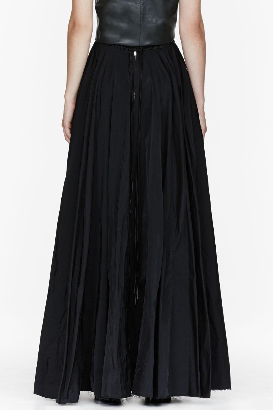 Yang Li Black Floor Length Circle Skirt In Lyst