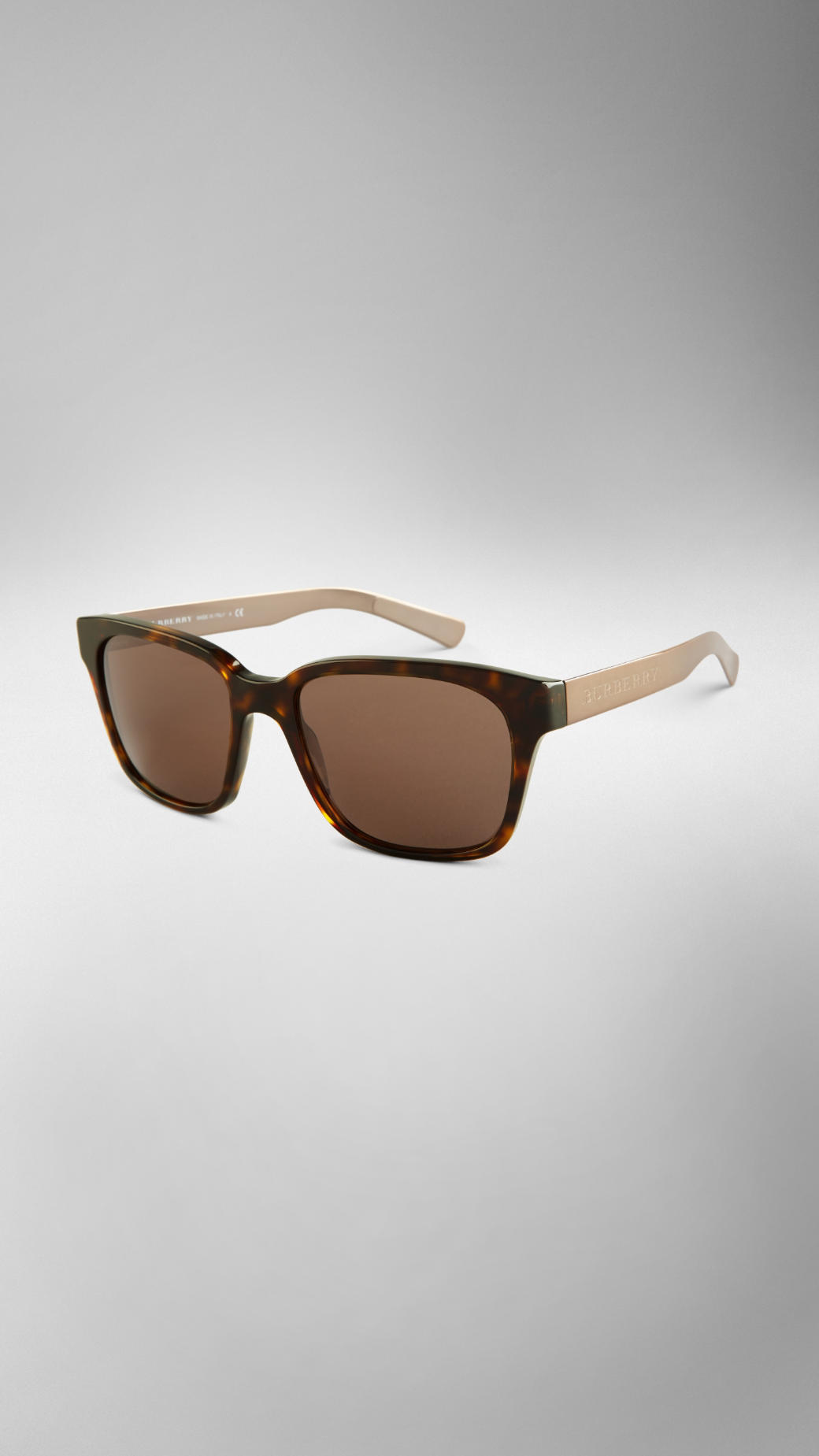 dda3c52120f0 Lyst - Burberry Brit Brit Rhythm Square Sunglasses in Brown for Men