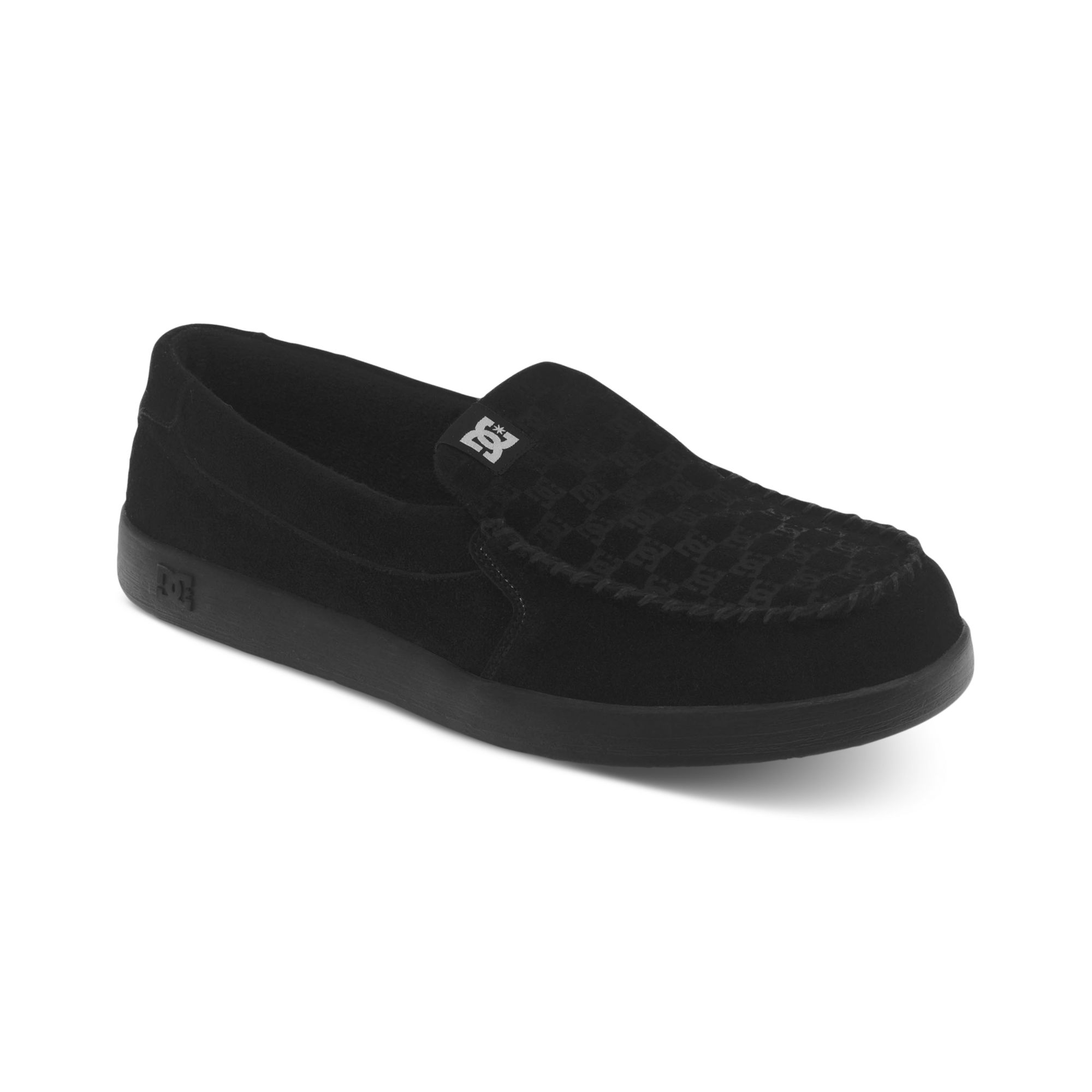 dc shoes villain slip on sneakers in black for lyst
