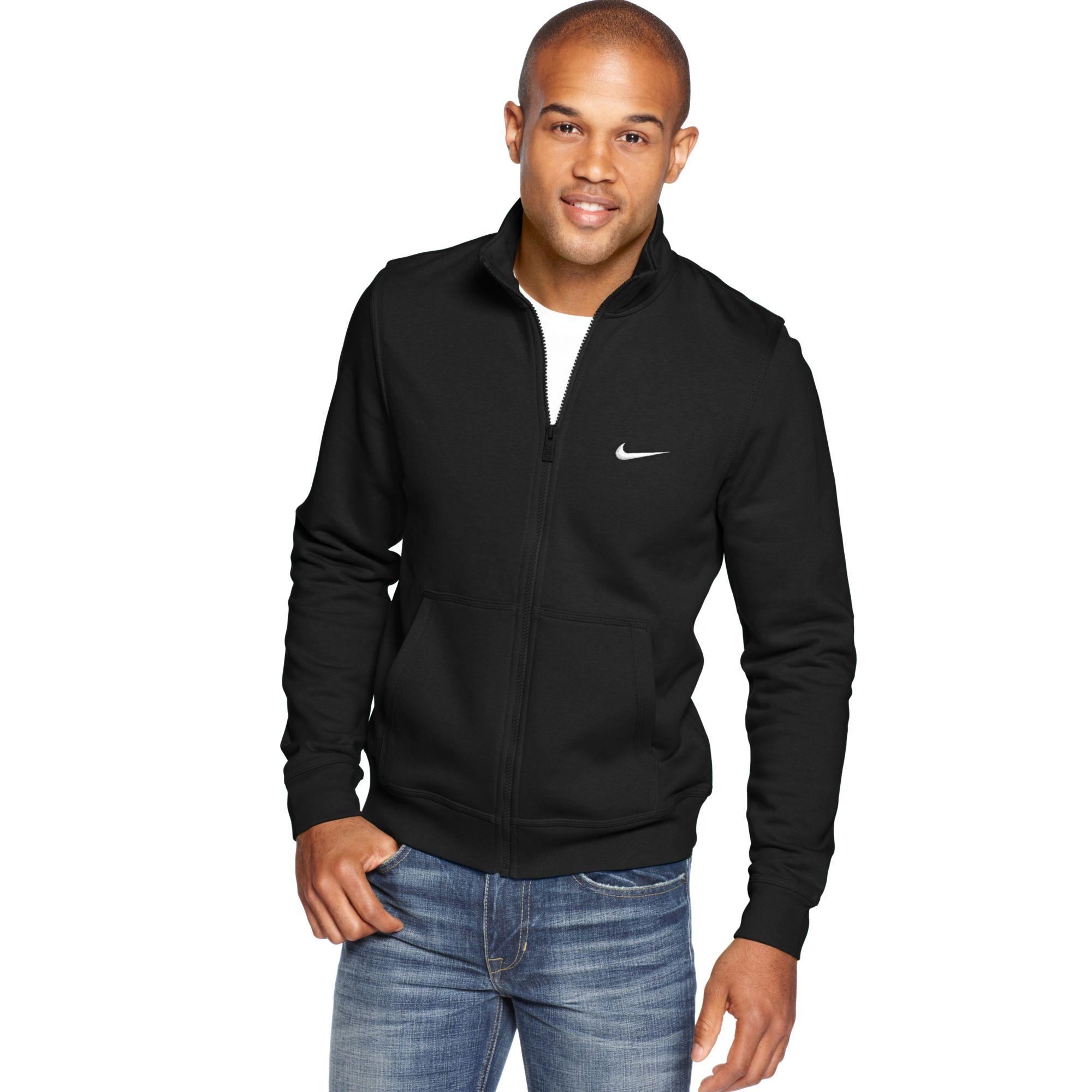 nike fleece track jacket mens