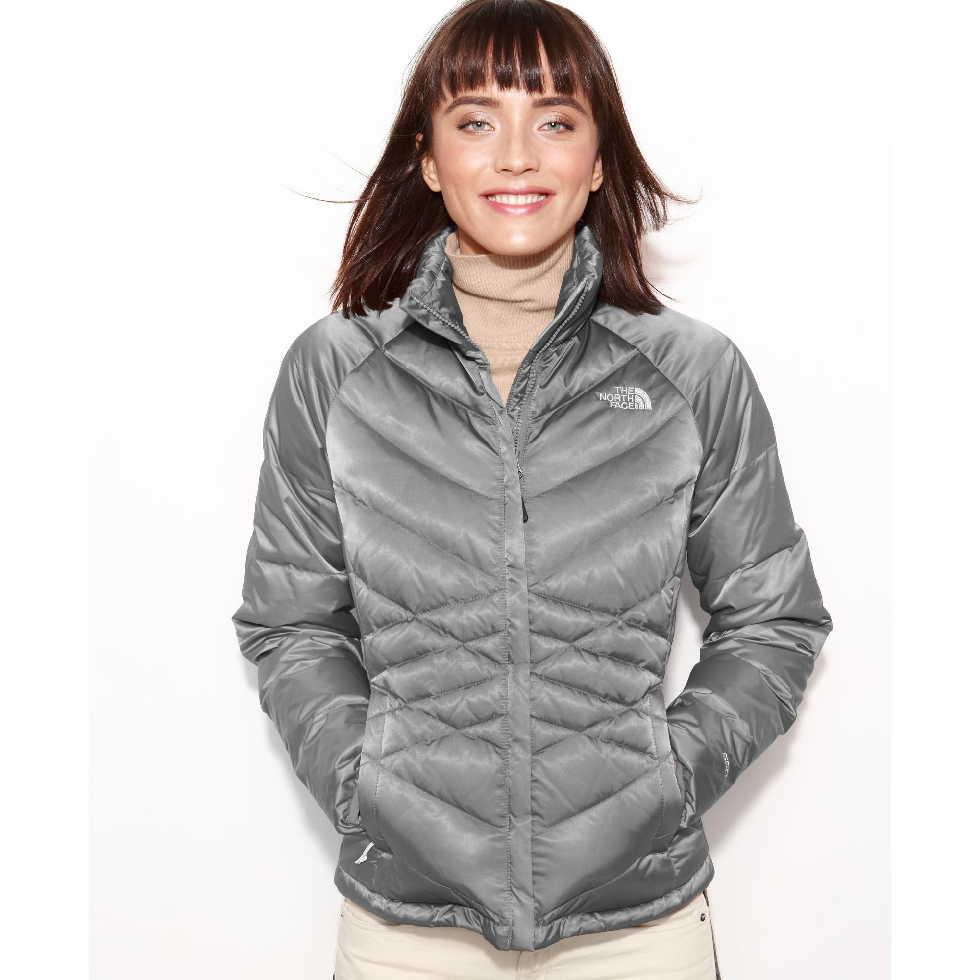 The North Face Aconcagua Quilted Down Puffer In Gray Lyst