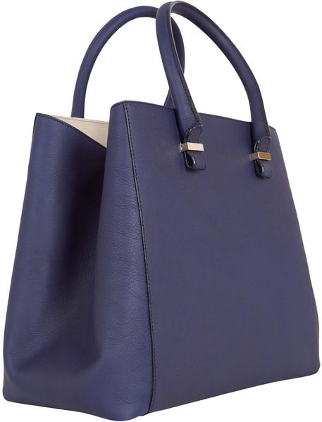 Victoria Beckham Navy Liberty Tote Bag in Blue (navy)