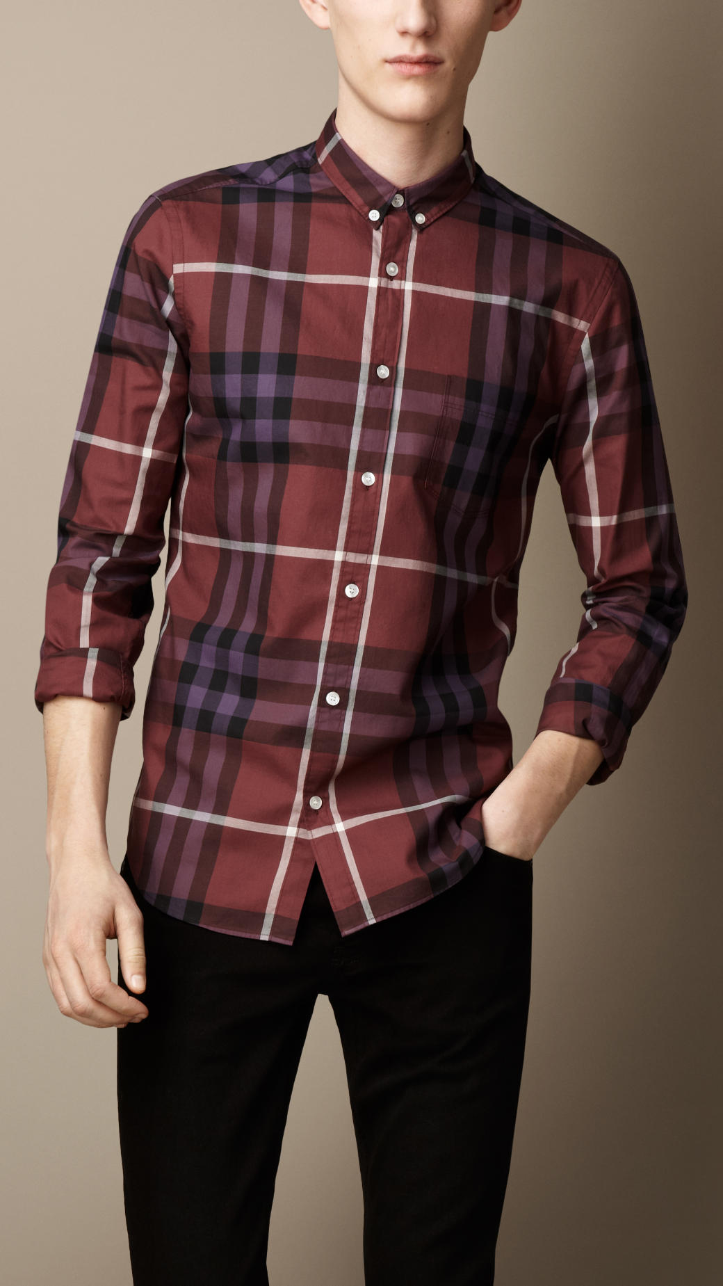 Gallery. Men s Burberry Atkins Men s Collared Shirts ... c66dd1a9e
