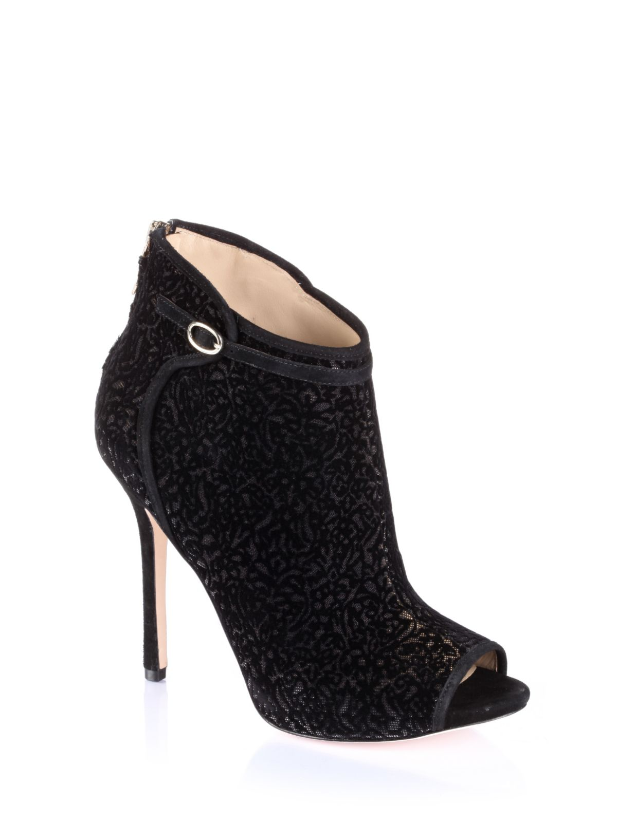 guess marciano bever ankle boot in black black gold lyst