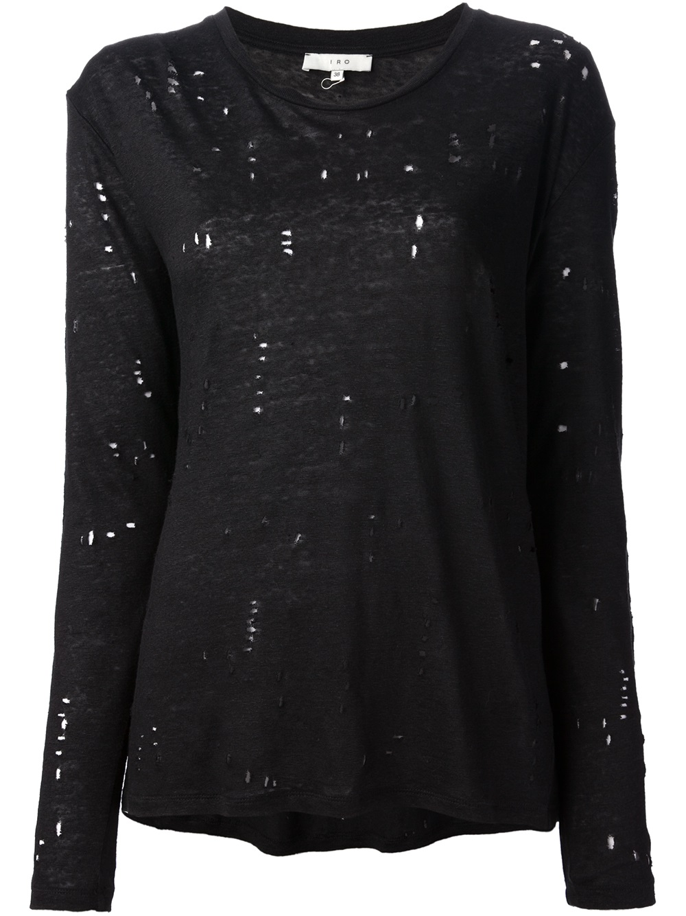 Lyst iro iro distressed t shirt in black for How to make a distressed shirt
