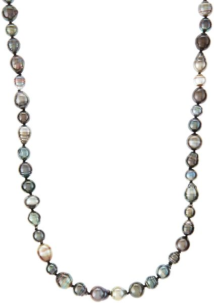 Lagos Tahitian Pearl Endless Necklace in White (pearl)