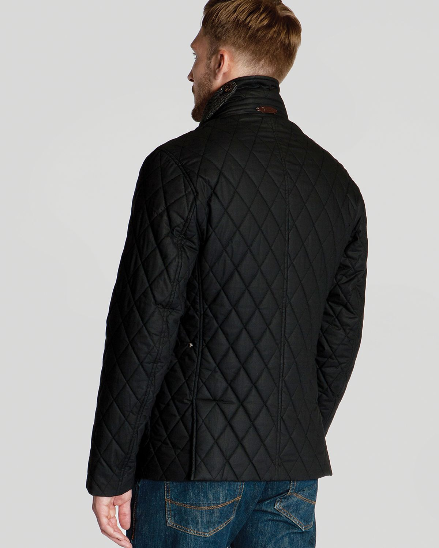 Ted Baker Kemond Diamond Quilted Jacket In Black For Men