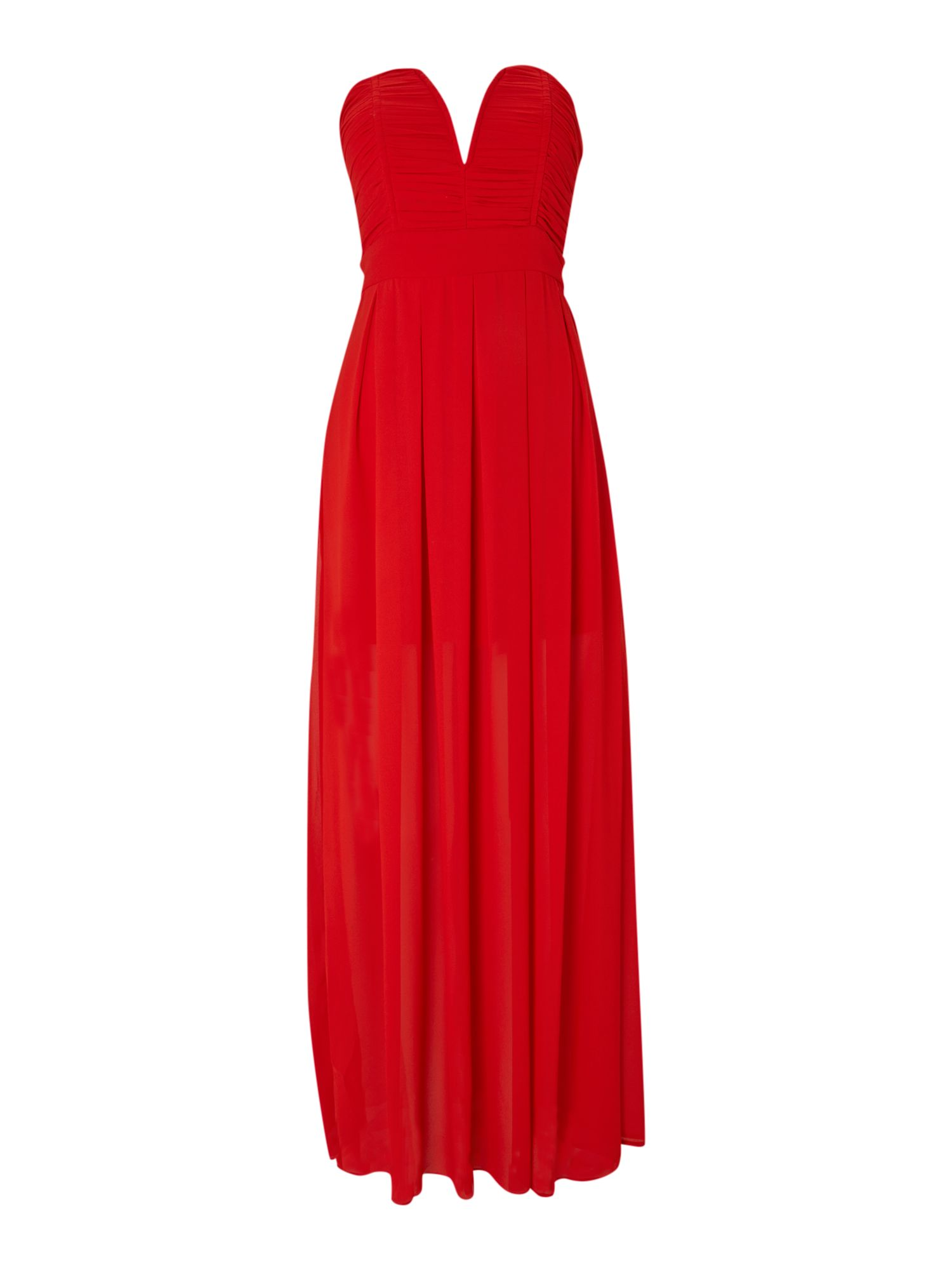 Tfnc Strapless Maxi Dress in Red | Lyst