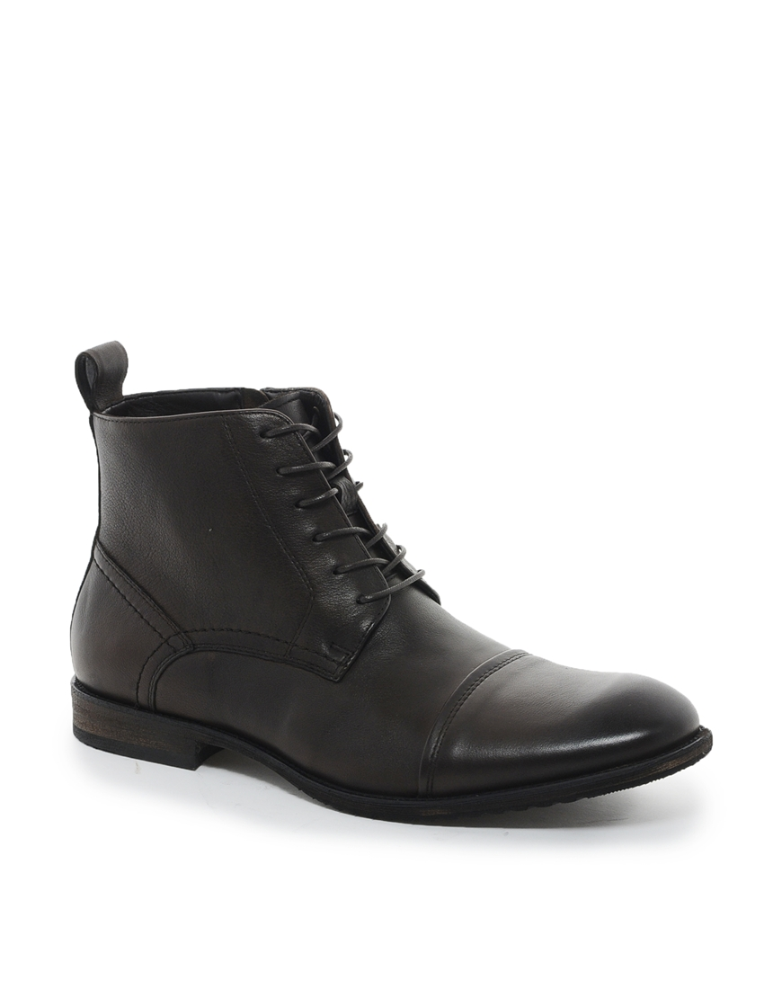 aldo aldo waldram leather boots in brown for lyst