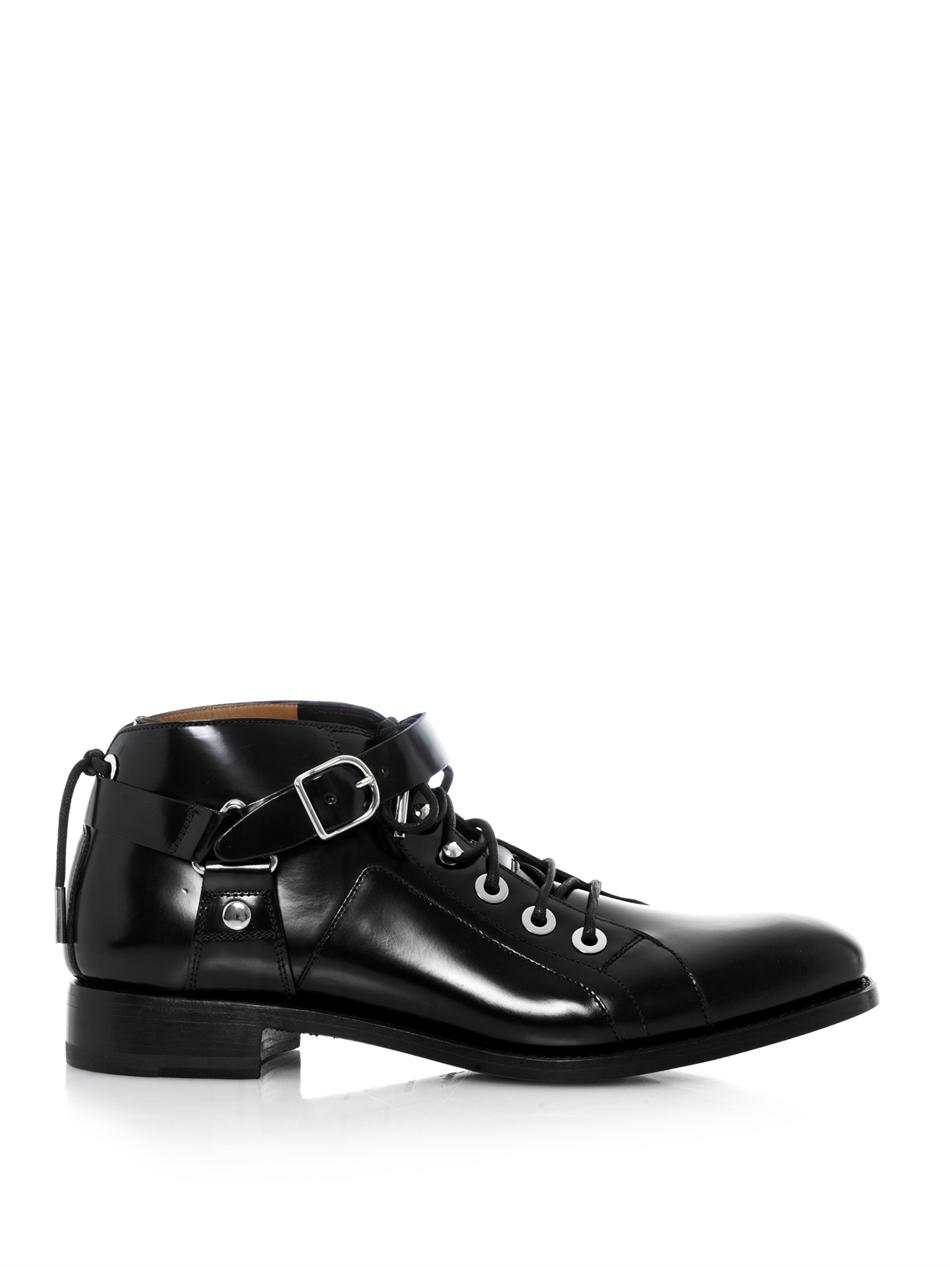 Lyst Balenciaga The Mountain Ankle Boots In Black