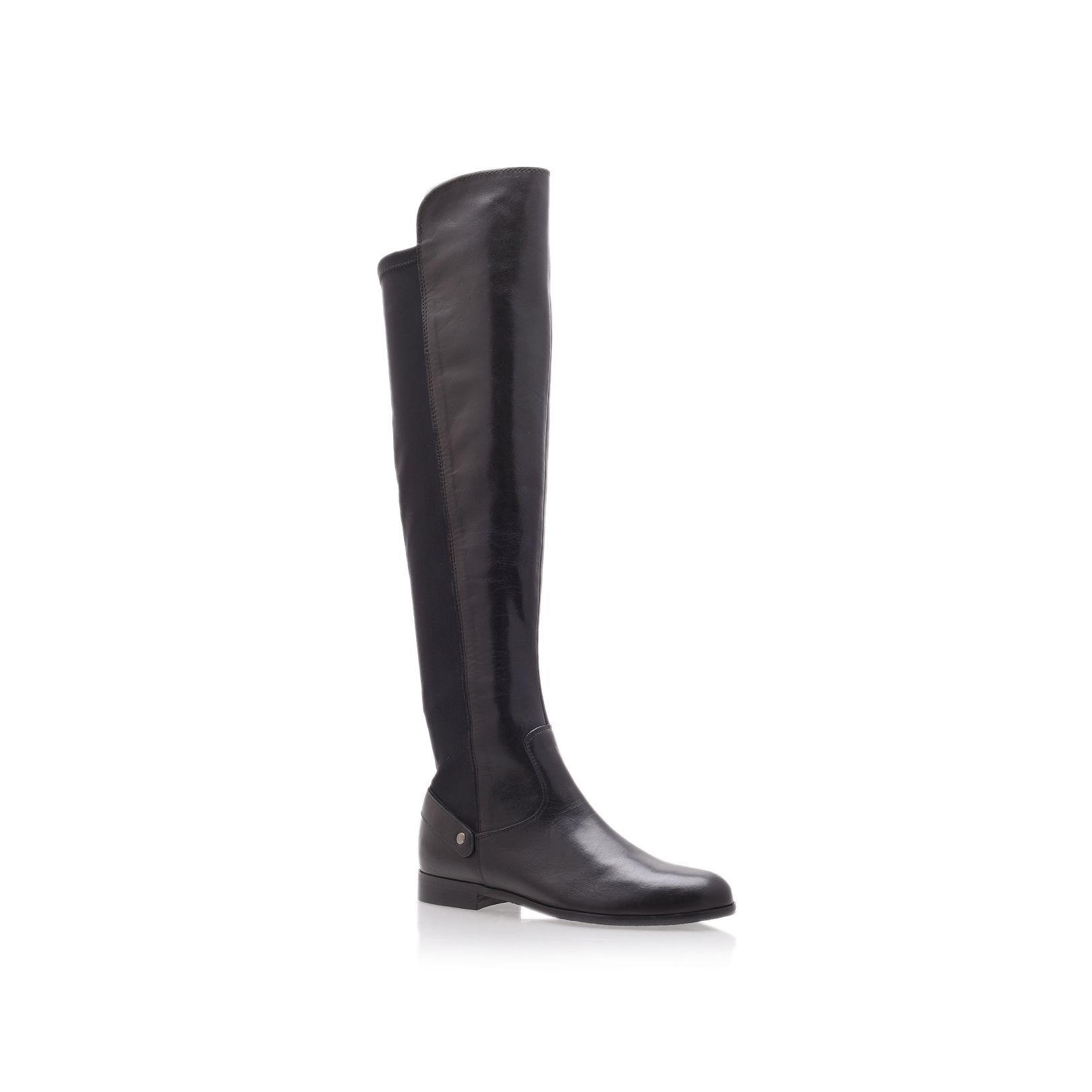 carvela kurt geiger wood knee boots in black lyst