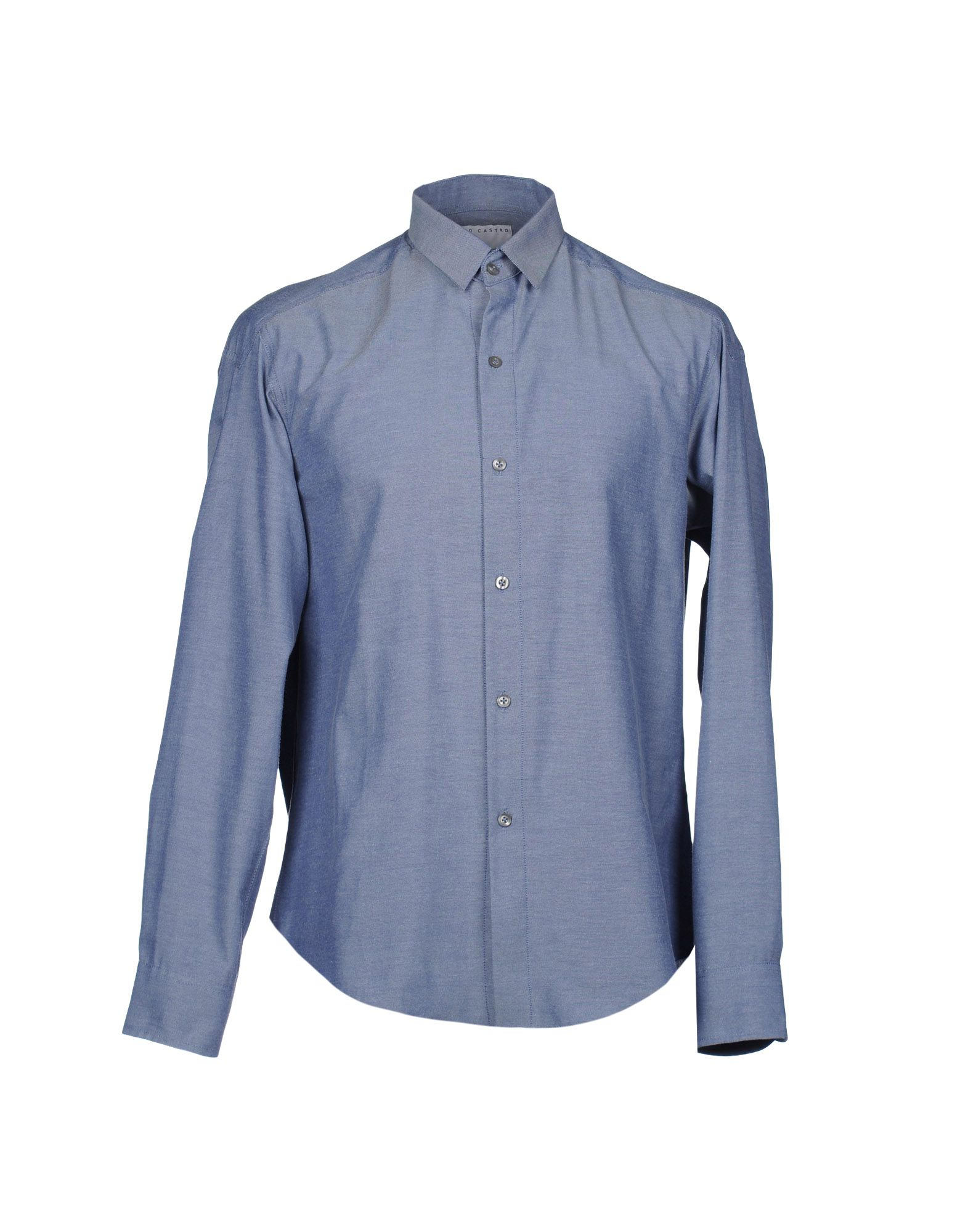 lucio castro sleeve shirt in blue for lyst