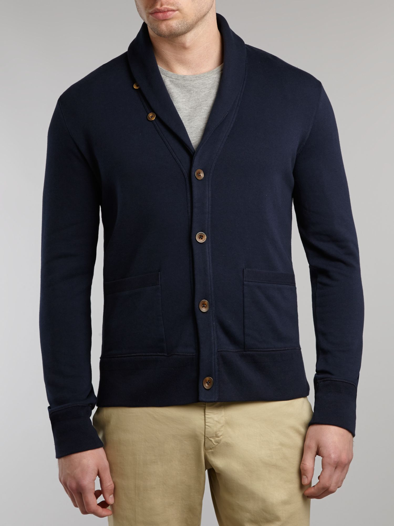 Polo Cardigan Ralph Lauren Navy Blue - English Sweater Vest