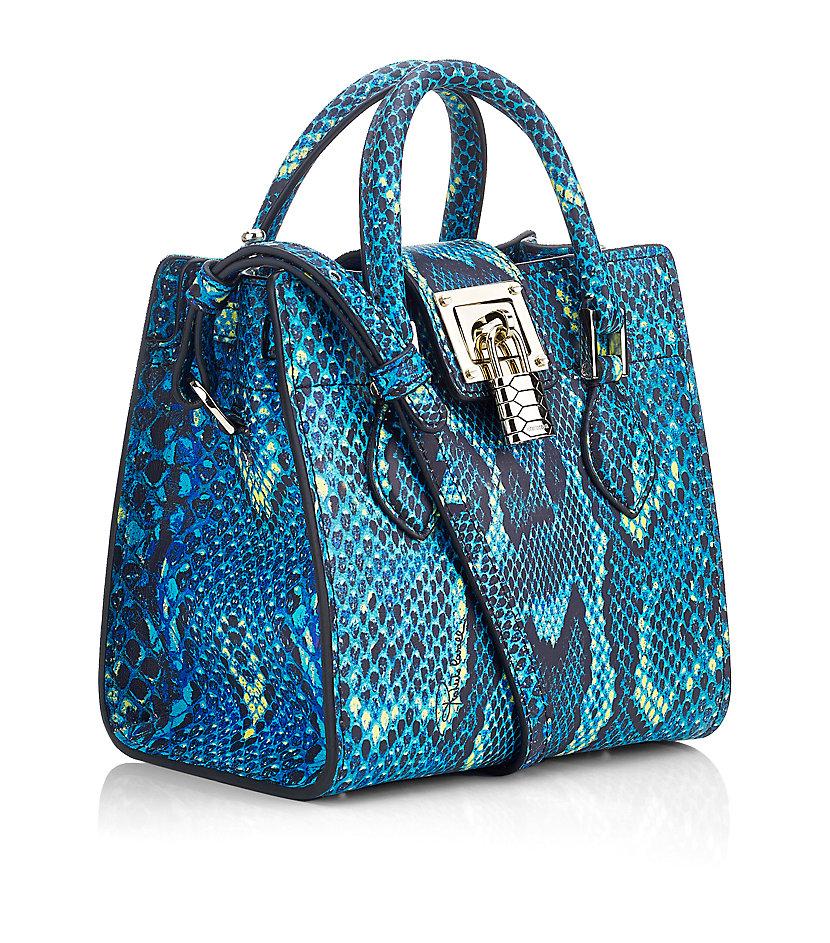 Roberto Cavalli Mini Florance Bag With Python Print In