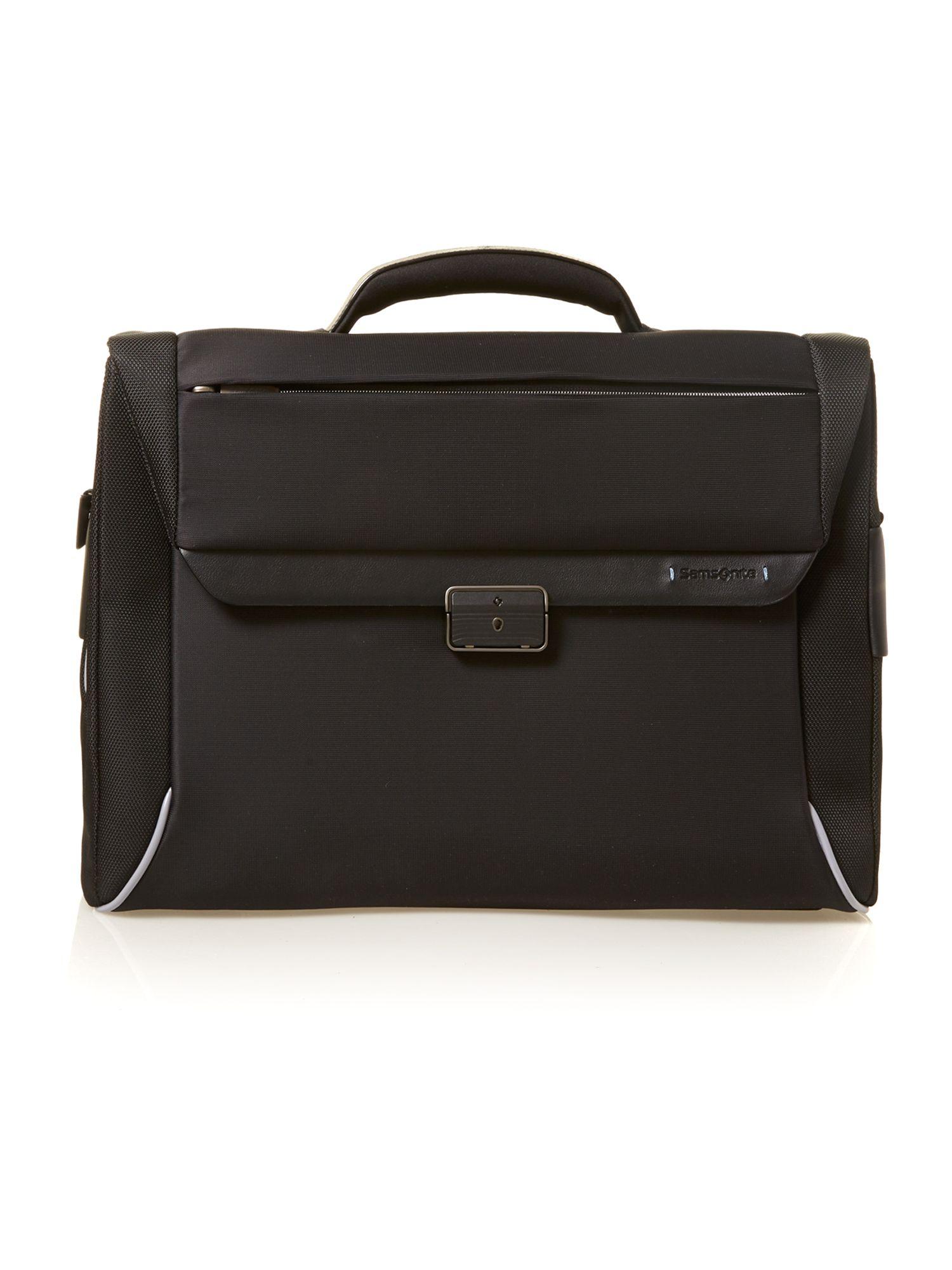 Samsonite Spectrolite Briefcase 2 Gussets 16 in Black for ...