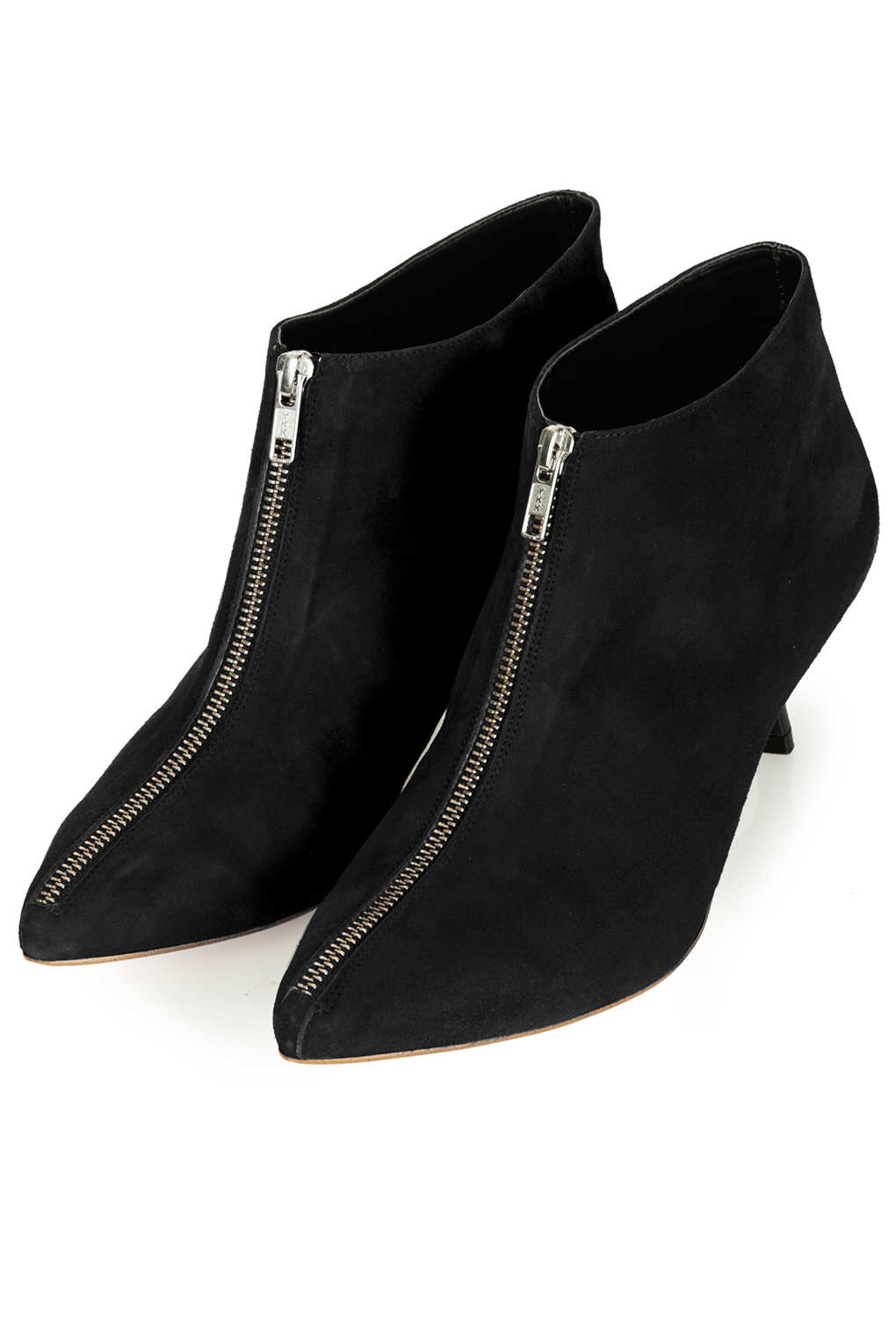 Topshop Applebee Kitten Heel Boots in Black | Lyst