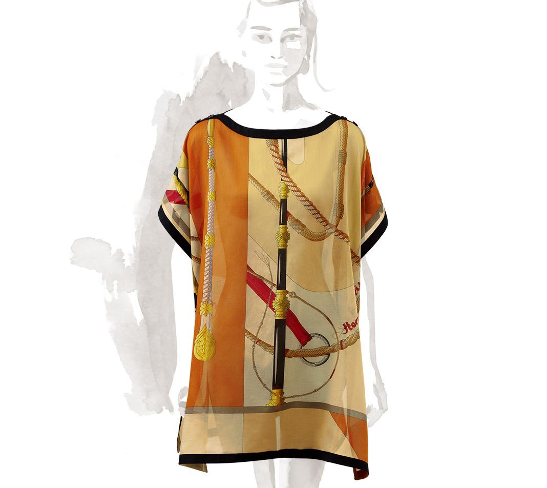 hermes clic clac beach tunic in orange lyst. Black Bedroom Furniture Sets. Home Design Ideas