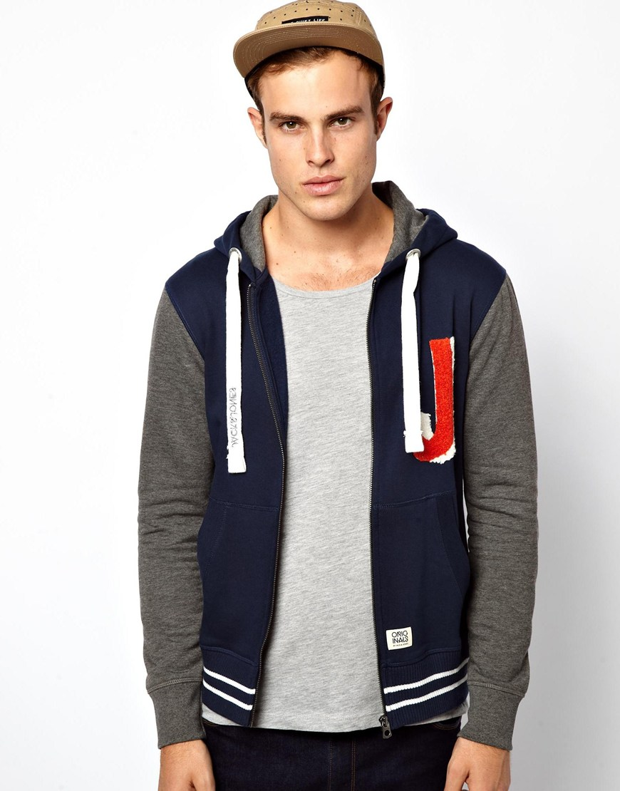 paul smith jack jones americana hooded sweatshirt in blue. Black Bedroom Furniture Sets. Home Design Ideas