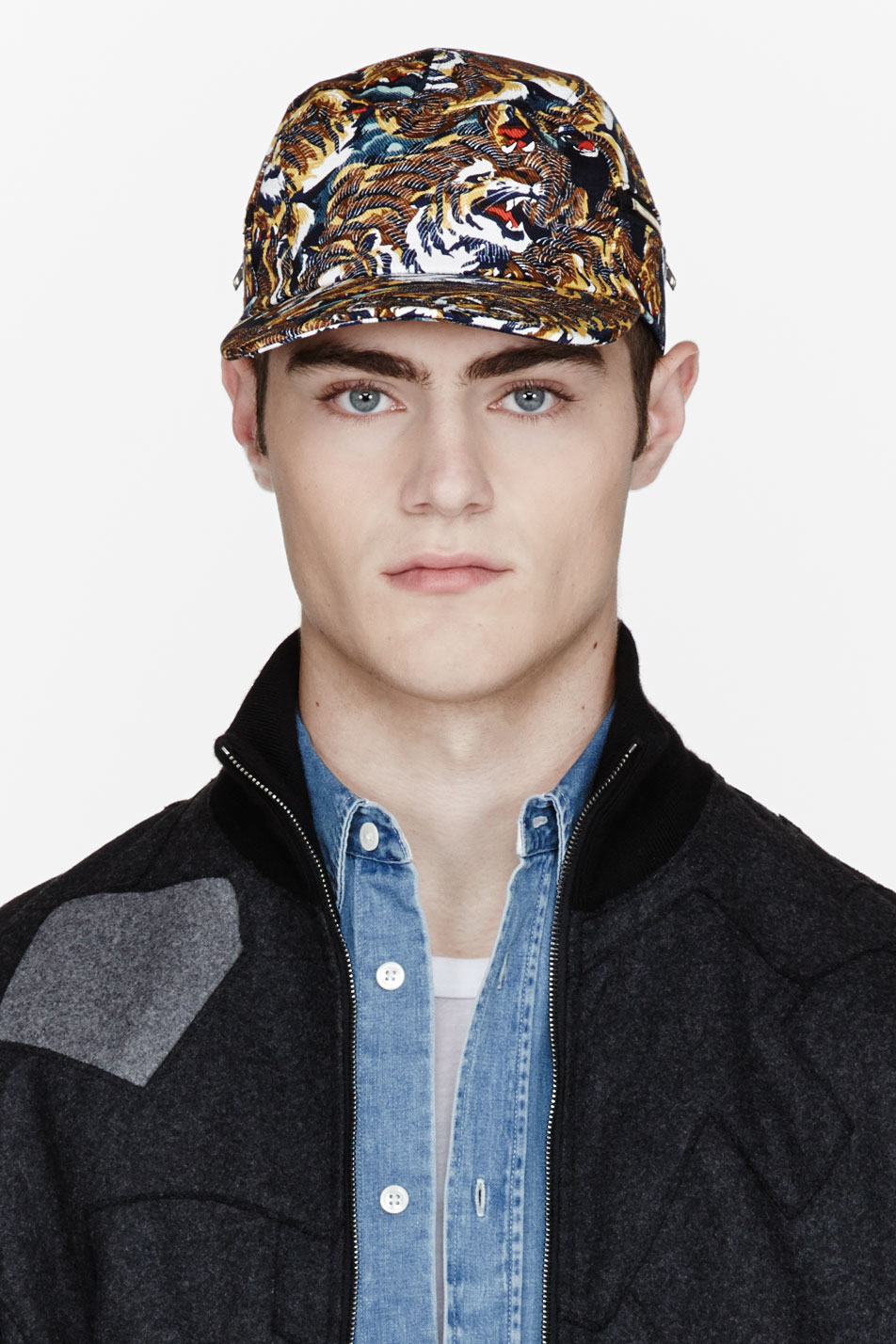 Lyst - KENZO Tan and Navy Flying Tiger Print Cap for Men 0d808da47ec