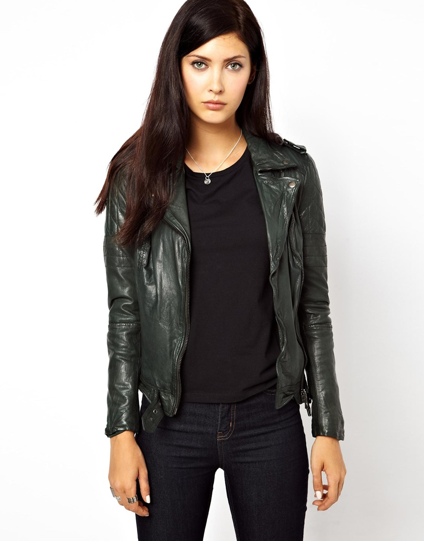 Lyst Muubaa Nido Goats Leather Jacket With Quilted