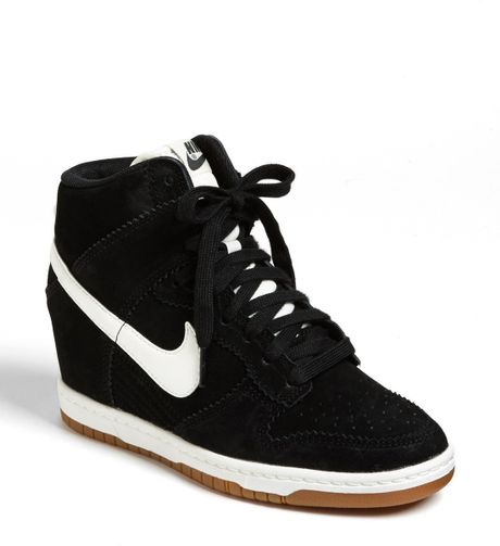 Wmns Nike Dunk Sky Hi Black Womens Hidden Heel Wedges ... |Wedges Sneakers Nike Black