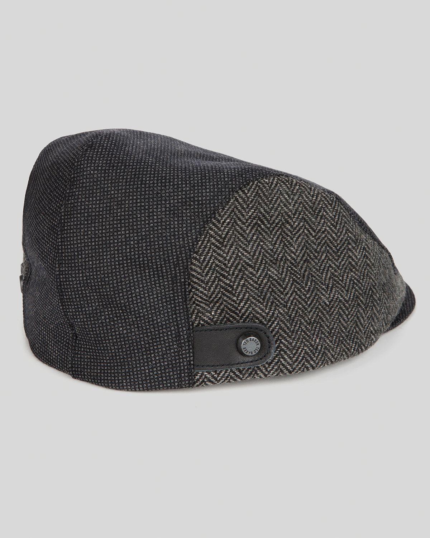 Lyst - Ted Baker Tibbit Flat Cap in Black for Men ab6c24b7481