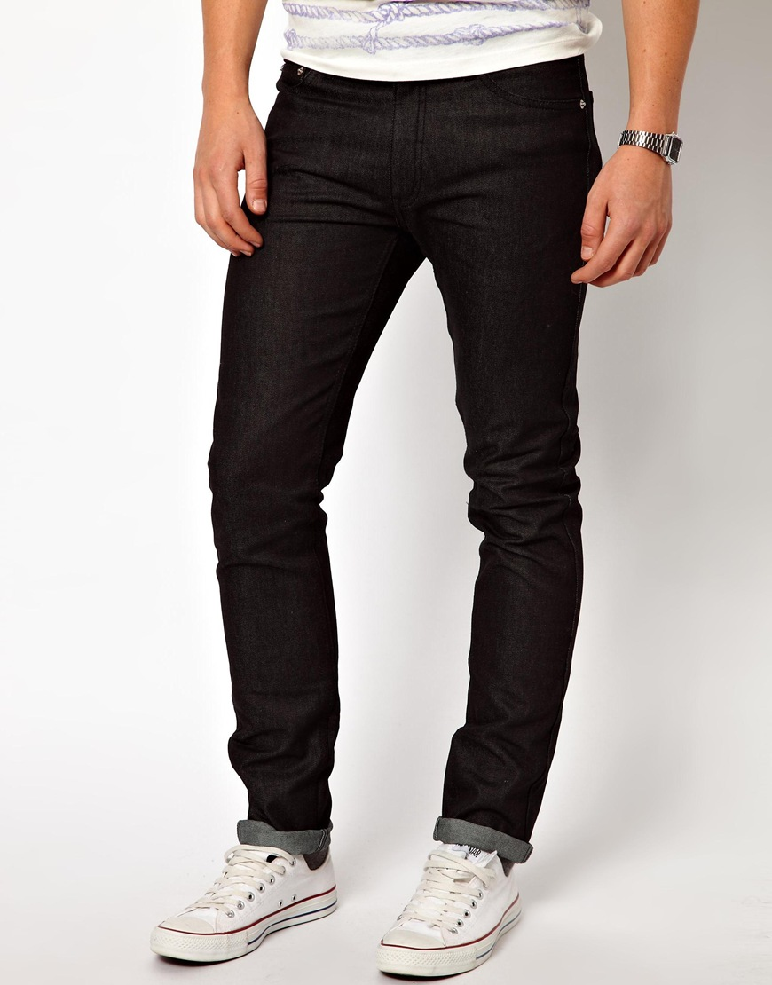Cheap monday Jeans High Slim Fit In Dry Black in Black for Men | Lyst