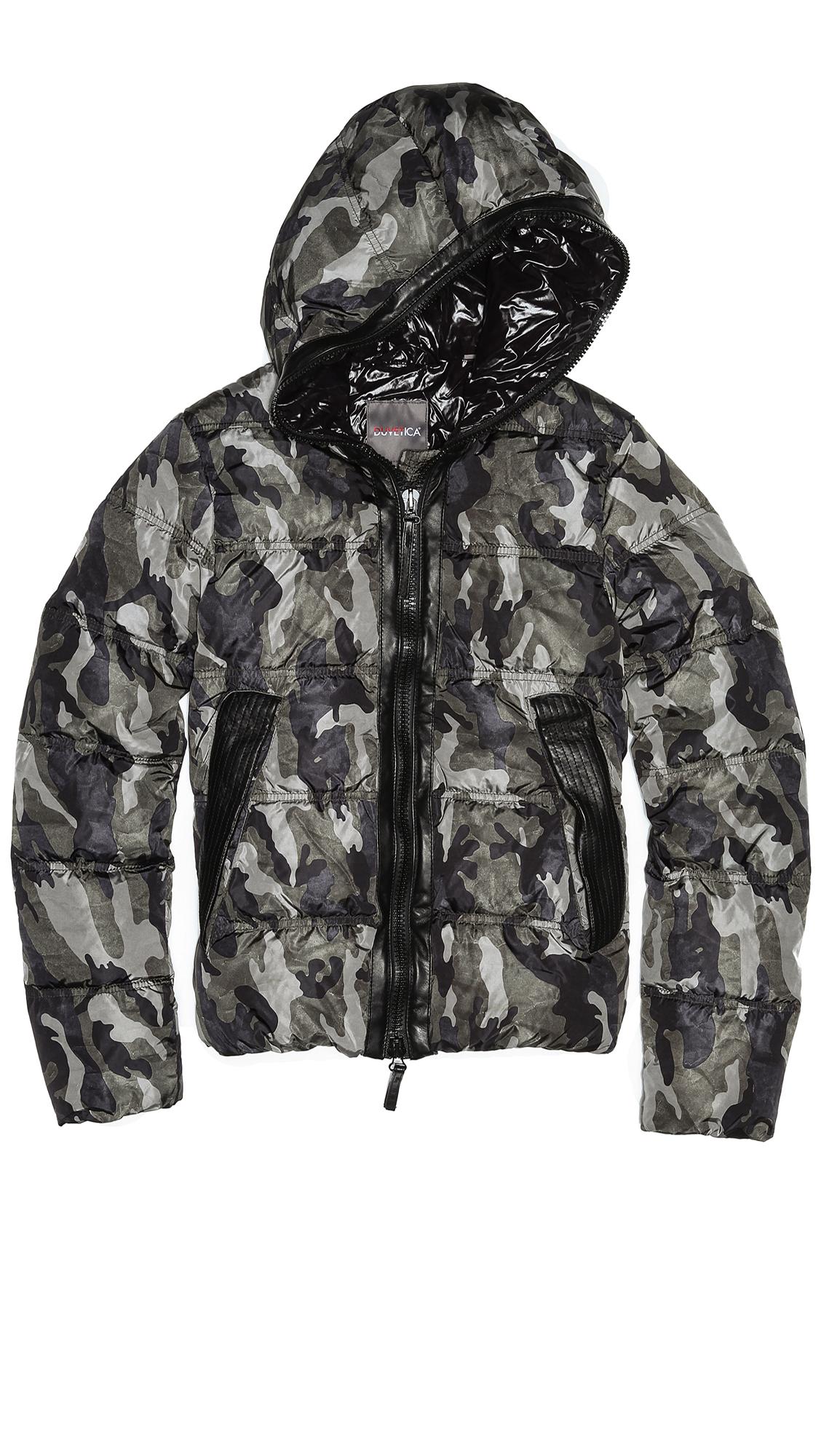 Lyst Duvetica Celtodue Camo Puffer Jacket In Gray For Men