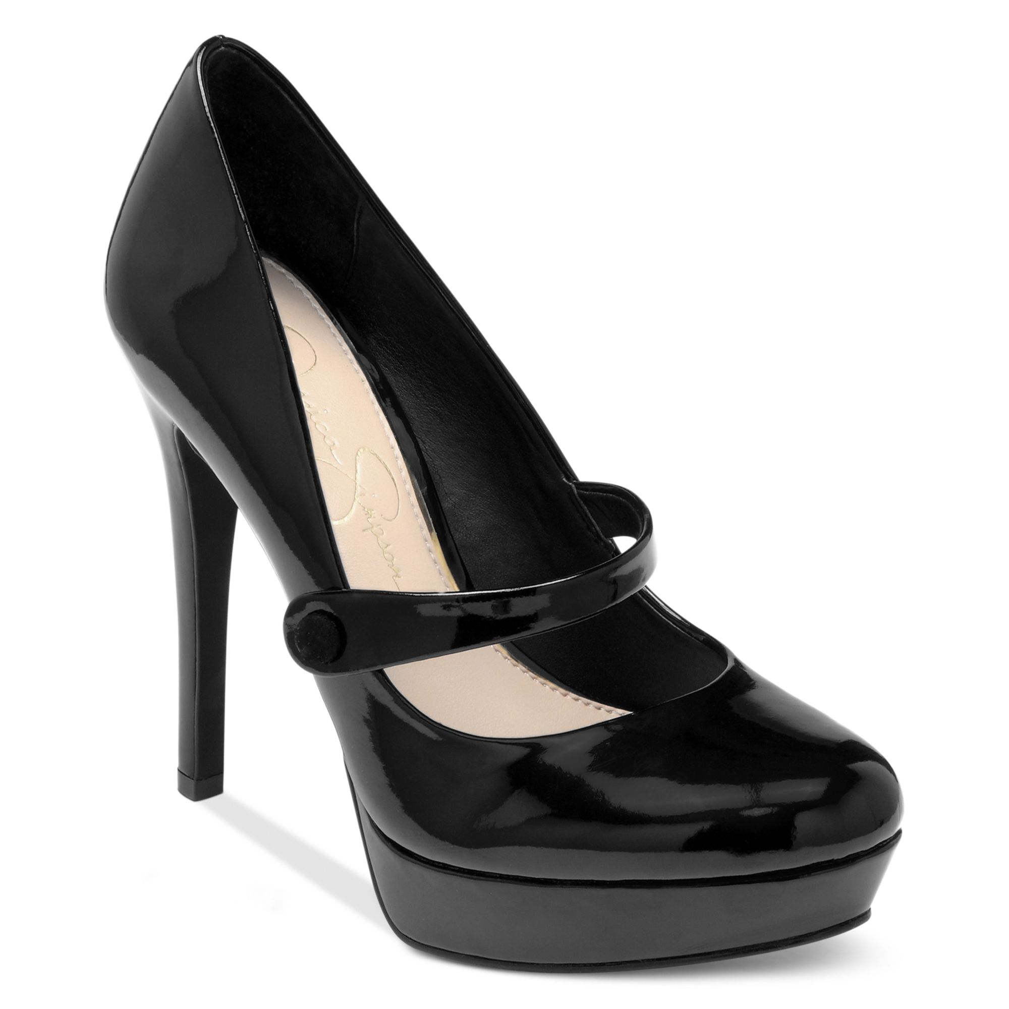 jessica simpson bogart mary jane platform pumps in black lyst. Black Bedroom Furniture Sets. Home Design Ideas