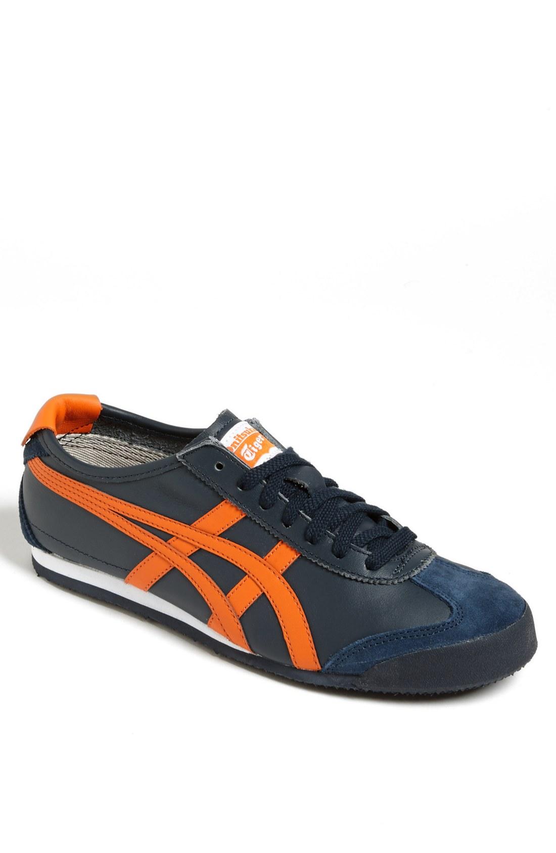 onitsuka tiger mexico 66 sneaker in blue for men navy orange lyst. Black Bedroom Furniture Sets. Home Design Ideas