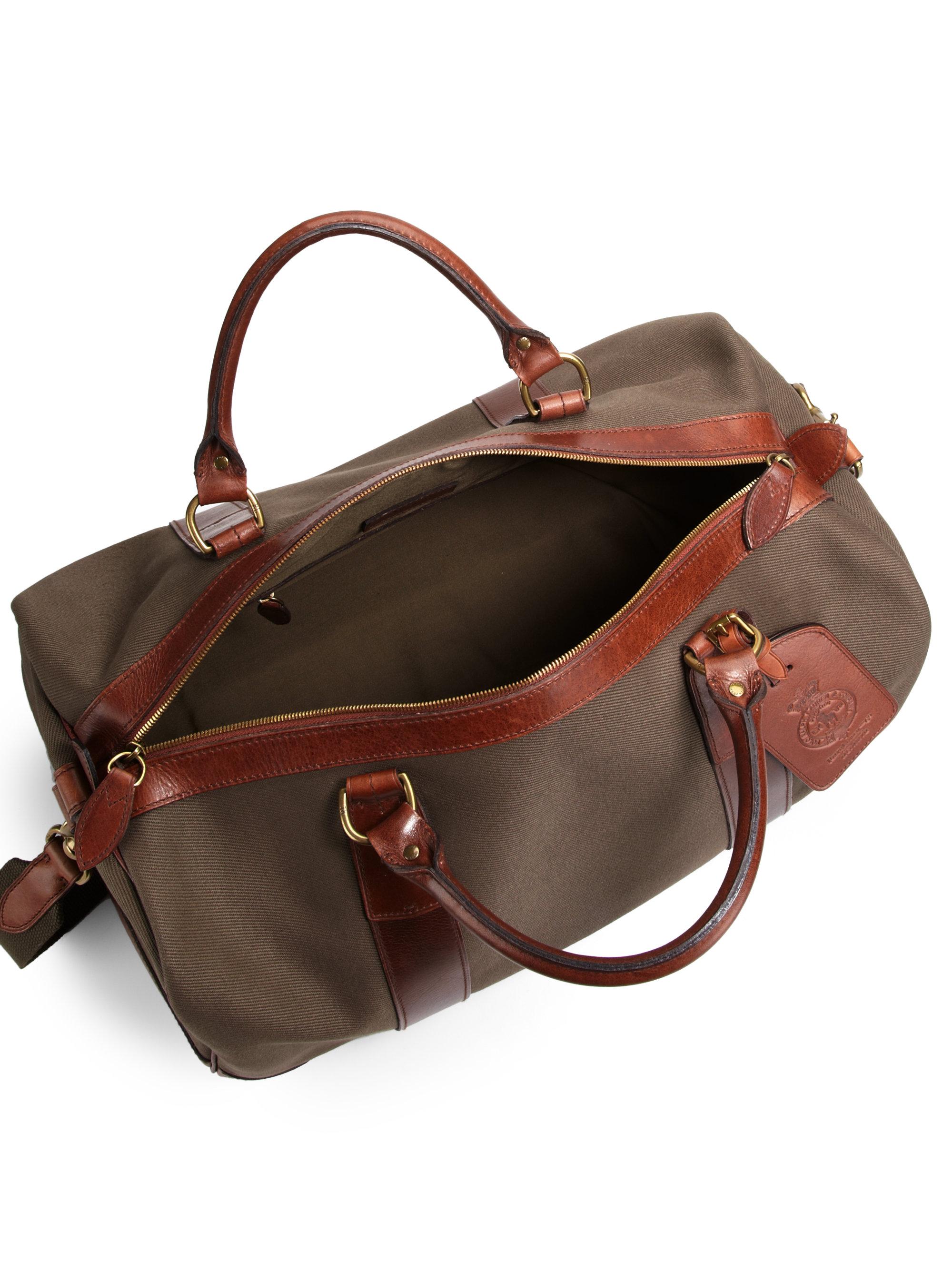 ... Yosemite Nylon Duffel Bag in Green  low priced 69799 8349a ... lyst  polo ralph lauren waxed twill duffel in green ... bda1e13b6a
