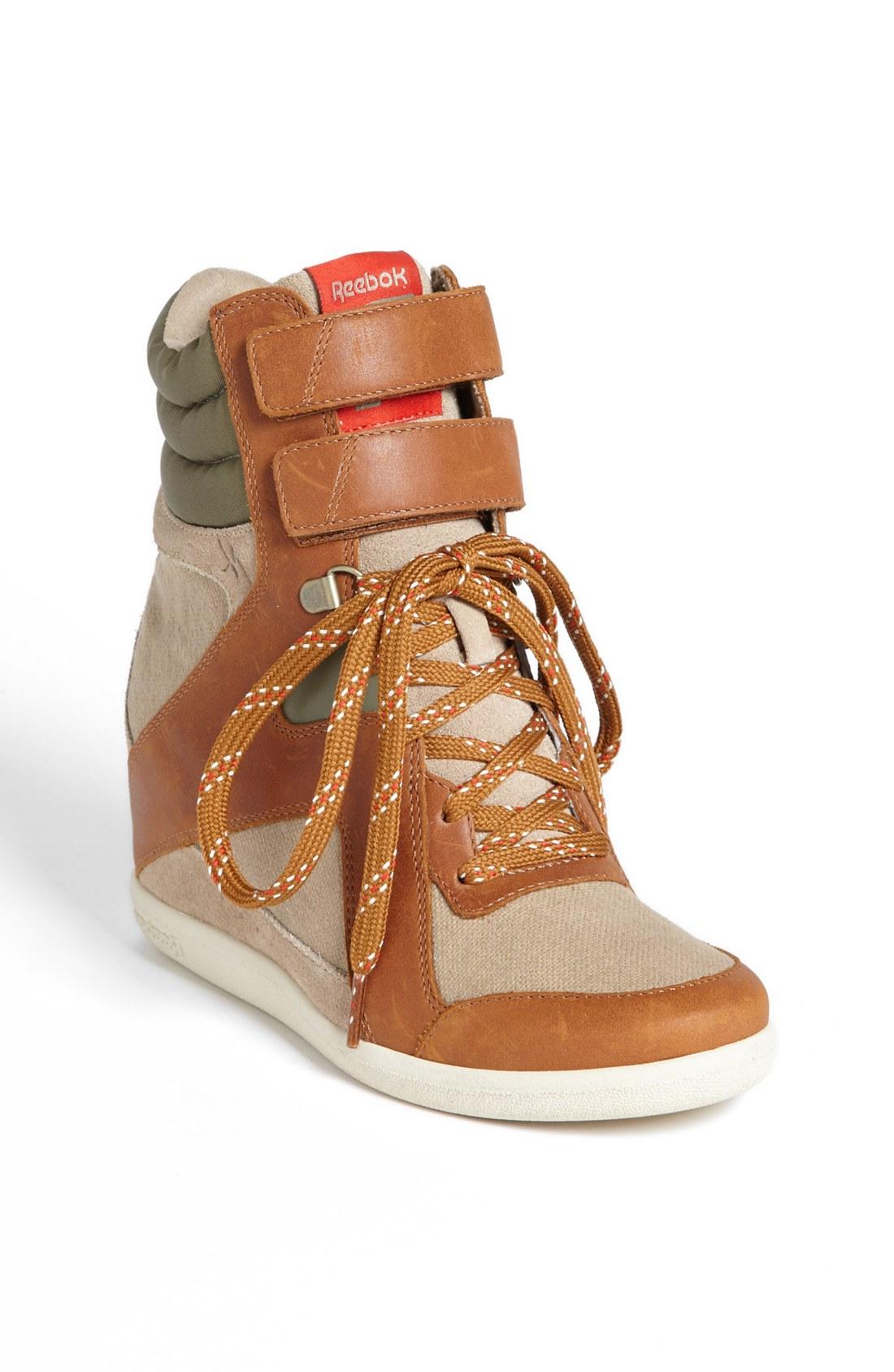 Reebok Wedge A Keys Sneaker in Brown (Canvas/ Brown/ Green ...