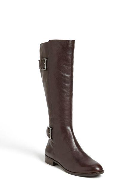 via spiga idelissa boot in brown brown calf lyst